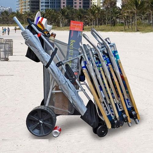 BeachMall Wonder Wheeler Wide Wheel Beach Cart
