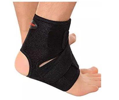 Liomor Ankle Support Breathable Ankle Brace for Running Basketball Ankle Sprain Men Women LXL, Black