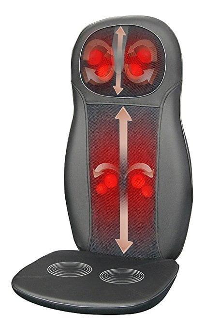 Zyllion ZMA14 Shiatsu Neck & Back Massager Cushion