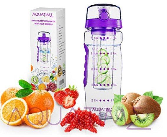 Aqua Time Marked Fruit Infuser Bottle