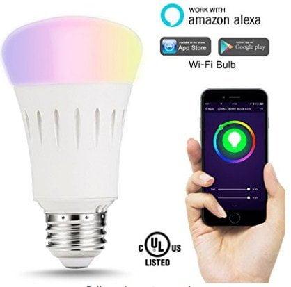 LOHAS Smart LED Bulb, Wi-Fi Light, Multicolored LED