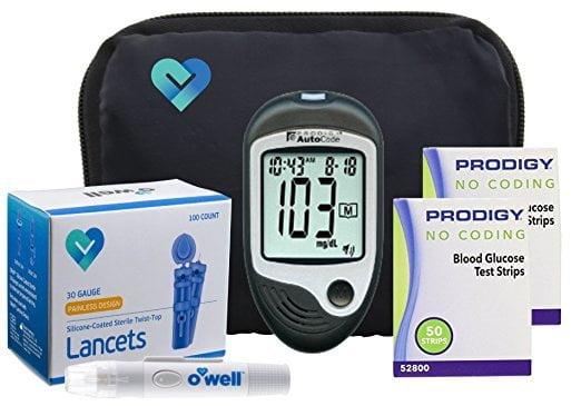 Prodigy Auto Code Diabetes Testing Kit