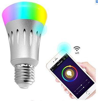 Wifi Led light bulbs ,Wallfire 7W E27 Wireless WiFi Remote Control Smart Bulb Lamp