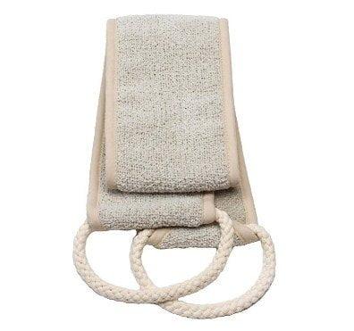 Aquis - Exfoliating Back Scrubber, Deep Clean & Invigorate Your Skin, Linen