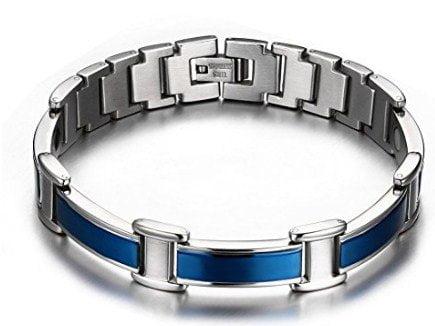 Blue Titanium Magnet Therapy Bracelet