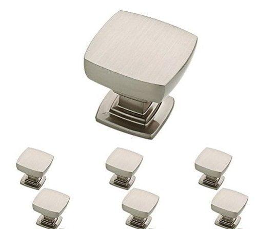 Franklin Brass P29542K-SN-B Satin Nickel 1-1/8-Inch Webber Kitchen Cabinet Hardware Knob, 10 pcs