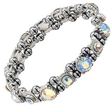 Premium Sparkling Crystal Hematite Magnetic Bracelet