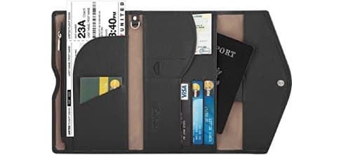 Travelambo Rfid Blocking Passport Holder Wallet