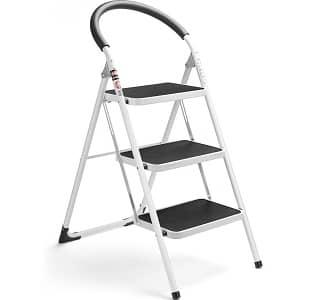 Delxo 3 Step Ladder Folding Step Stool Stepladders