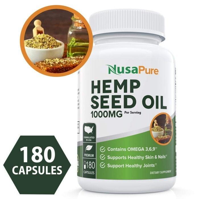 Best Capsules: NusaPure Hemp Seed Oil Capsules